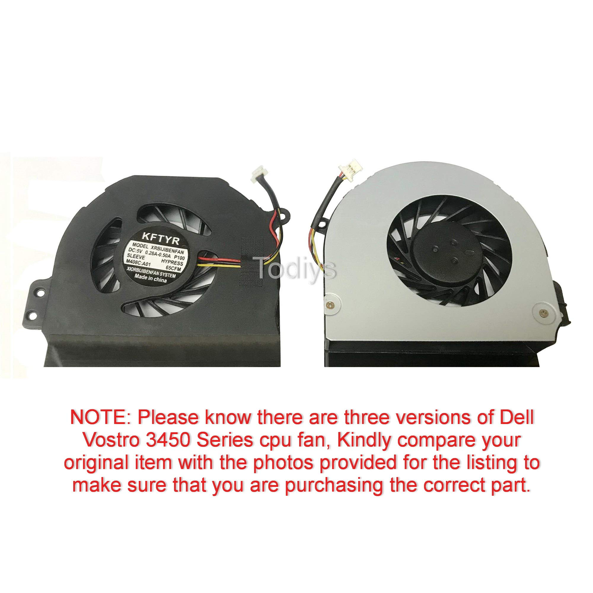 wangpeng Laptop CPU Cooling Fan Cooler for Dell Inspiron 1464 1564 1764 14R N4010 Series