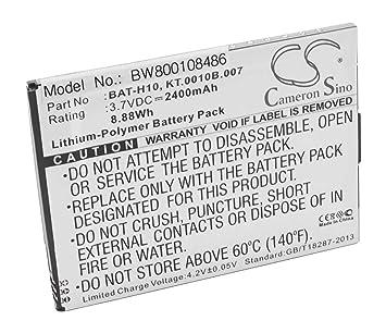 vhbw Li-Polymer batería 2400mAh (3.7V) para teléfono móvil ...