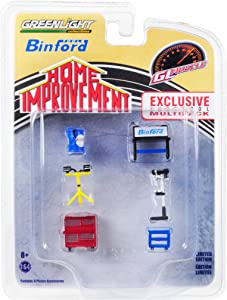 Binford Tools 6 Piece Shop Tools Set Home Improvement (1991-1999) TV Series Hobby Exclusive 1/64 by Greenlight 13175