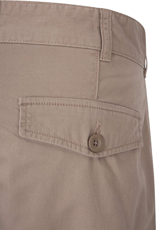 Pantal/ón Corto Tipo Cargo Resistente en Sarga de algod/ón 100/% 6 Bolsillos para Caminar Mountain Warehouse Pantal/ón Corto Lakeside para Hombre Correr
