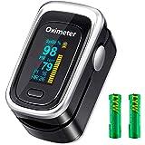 Oxímetro de Pulso de Dedo, Monitor de saturación de oxígeno en Sangre, medidor de frecuencia cardíaca, frecuencia…