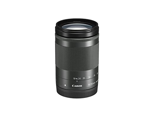 Canon EF-M 18-150mm f/3.5-6.3 is STM Lens (Graphite) Camera Lenses at amazon