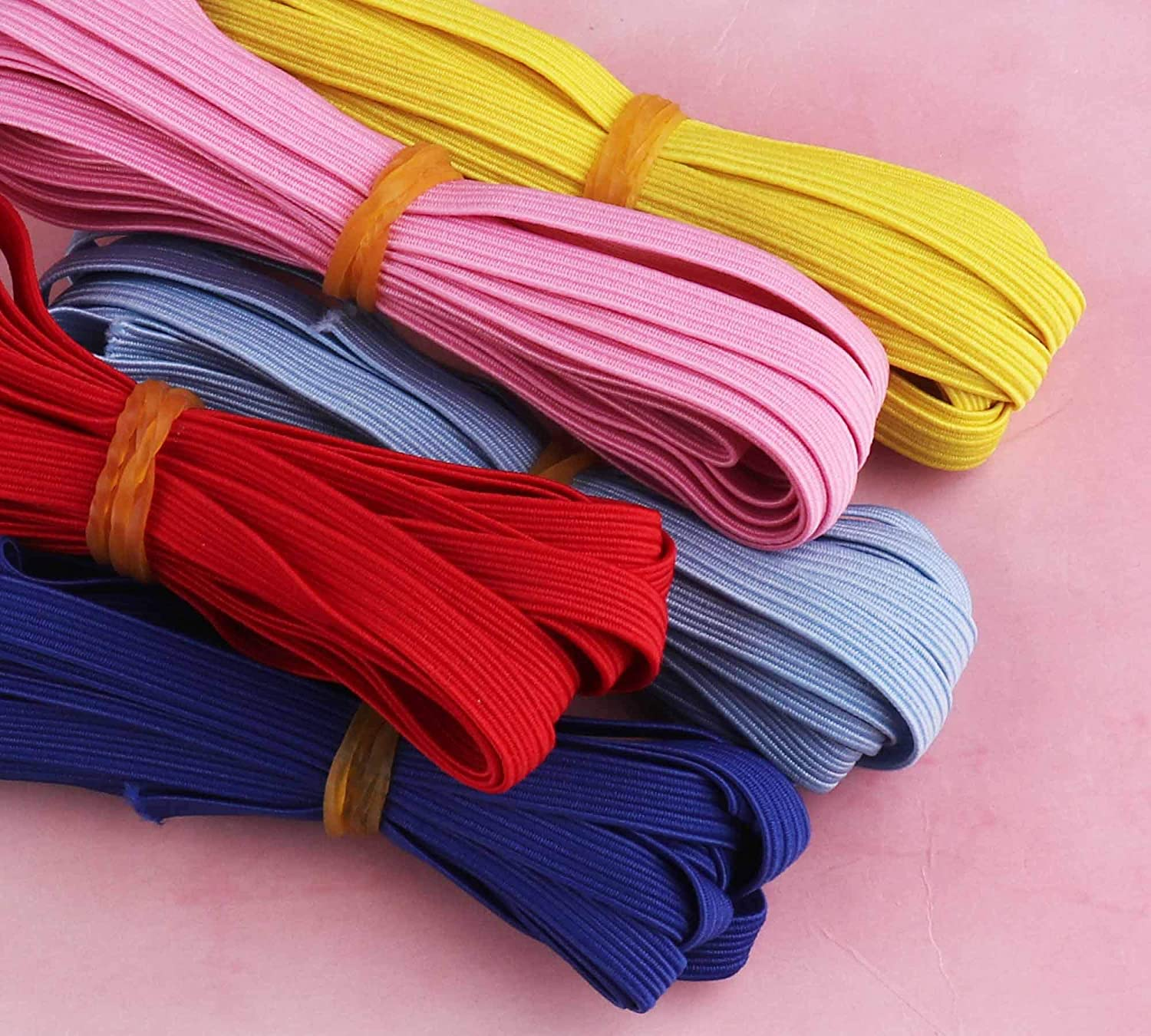 Amazon Com Elastic Bands For Face Mask 1 4 Inch Braided Elastic Cord For Sewing Crafts Diy Apparel Colored Elastic Bands For Mask Making Elastic Ribbon Multiple Thickening By The K Factor 50yards Blue