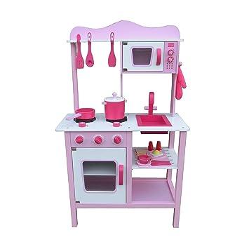 Kinderküche Spielküche PINK ROSA aus Holz Kinderspielküche ...