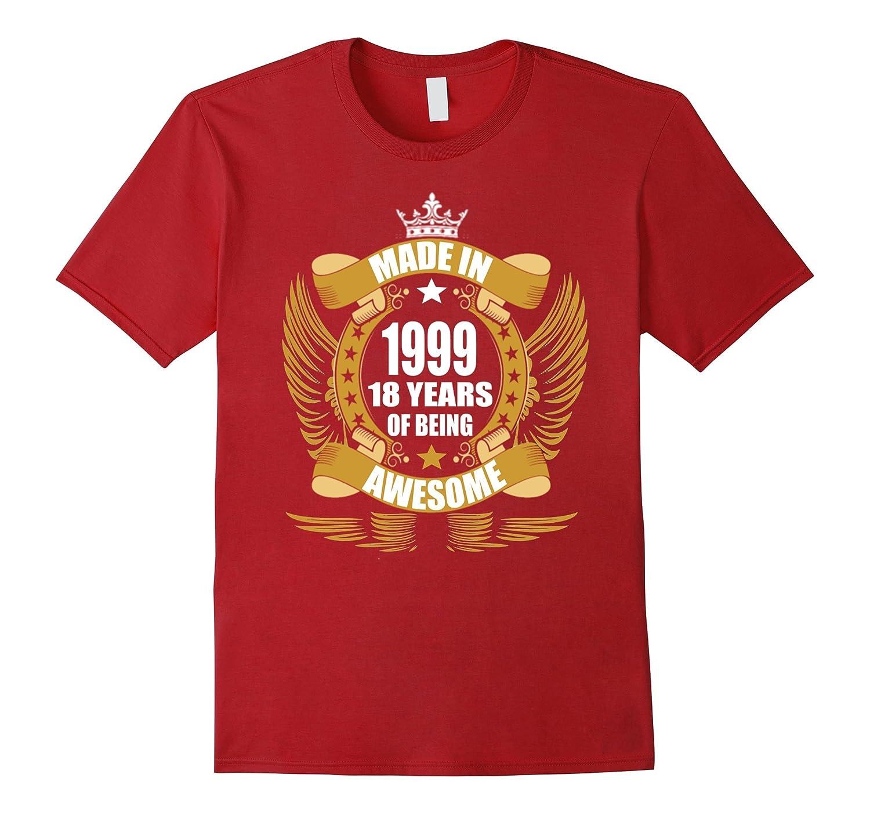 18th Birthday Gift Idea 18 Year Old Boy Girl Shirt 1999 PL