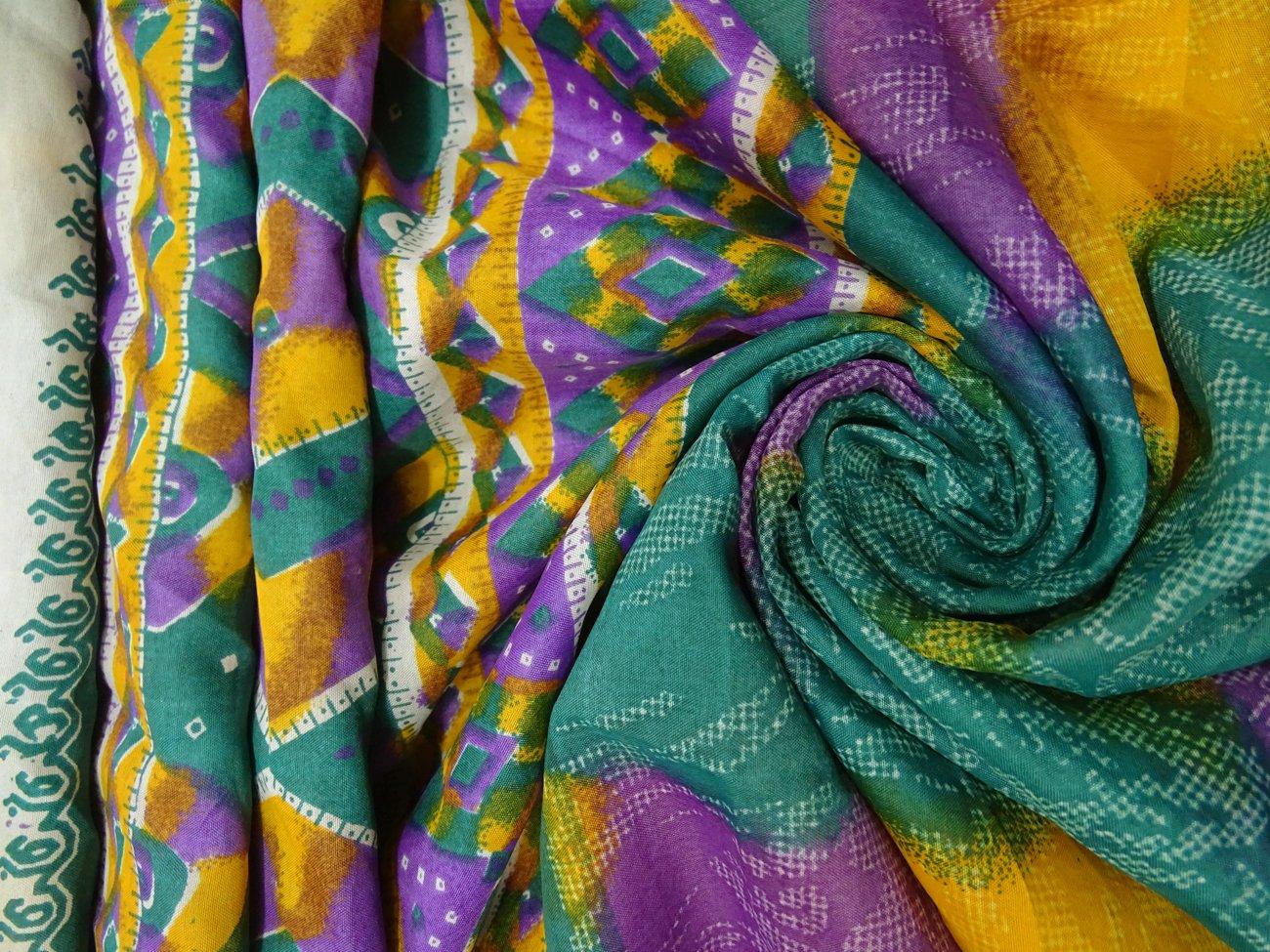 PEEGLI Indio Étnico Vintage Púrpura Étnico Mujer Sari Seda Mezcla Diseño DIY Tela Casual Vestir Vestido Abstracto Moda Saree: Amazon.es: Amazon.es