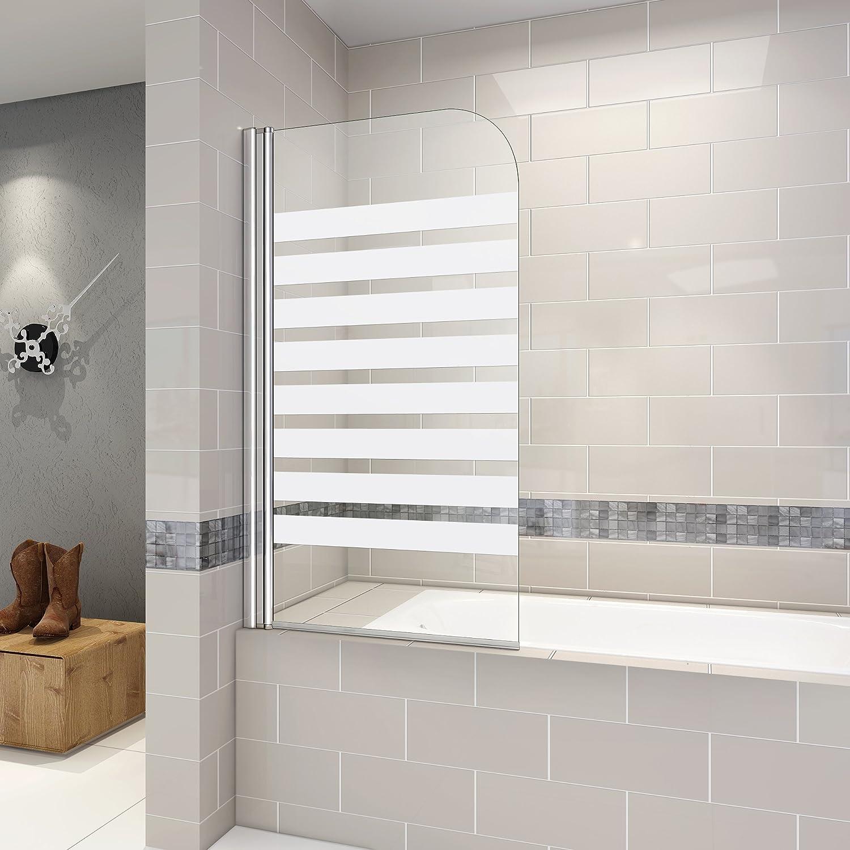 Mampara de ducha 140 cm pantalla de bañera parasol bañera ...