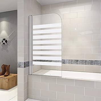 Mampara de ducha 140 cm pantalla de bañera parasol bañera pivotante con 180 grado: Amazon.es: Bricolaje y herramientas