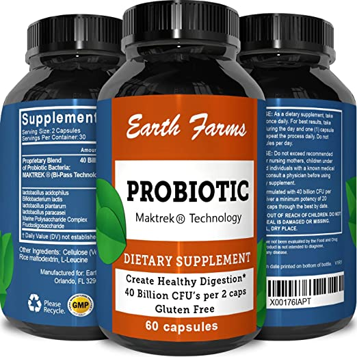 Best Probiotics Supplements For Men And Women - Natural And Pure Immune System Booster With Acidophilus + Bifidobacteria - Digestive Enyzymes Cleanse - Probiotic 40 Billion CFU By Tevare