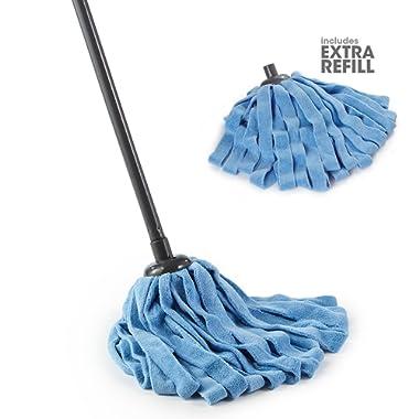 O-Cedar Microfiber Cloth Mop (Microfiber Cloth Mop with 1 Extra Refill)
