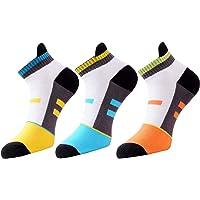 VaCalvers Men's Multicolour Cotton Socks (Multicolour, Free Size) - Pack of 3