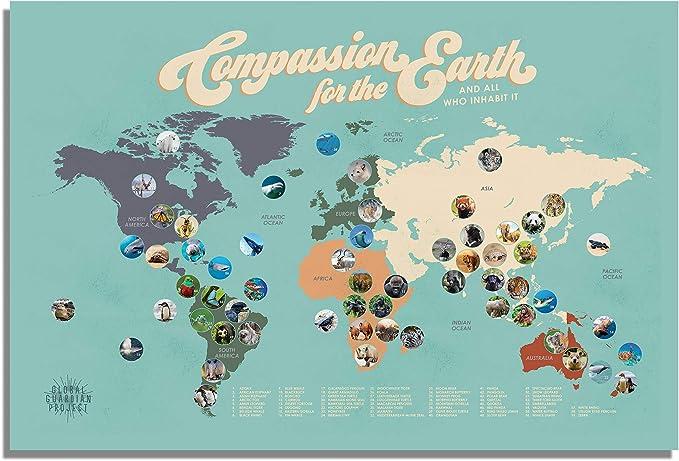 montessori wall art DIGITAL Global warming poster homeschool