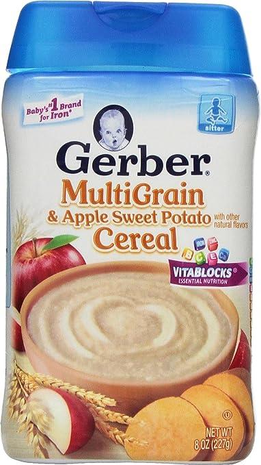 Gerber Baby Cereal, Multigrain Apple Sweet Potato, 8 Ounce