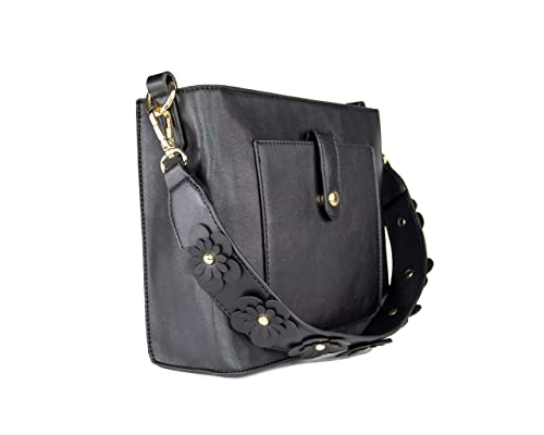 Leather applique bag etsy