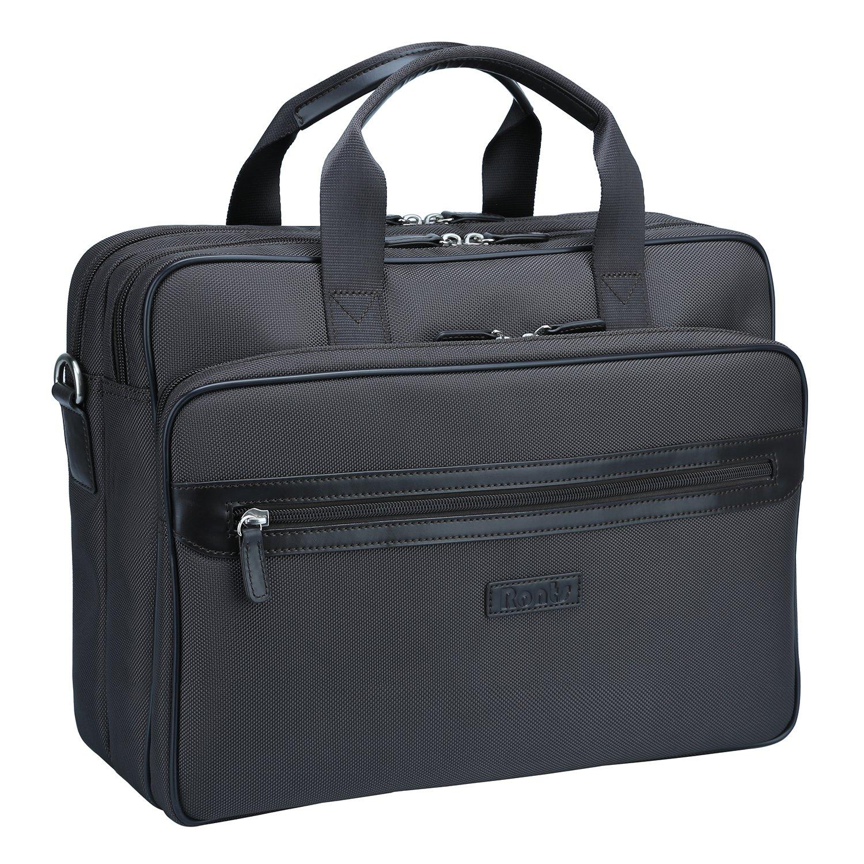 Ronts Men's Laptop Computer Organizer Briefcase Zipper Business Messenger Bag