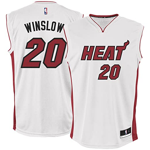 Amazon.com  Justise Winslow Miami Heat  20 Youth White Home Replica ... 3422b821e