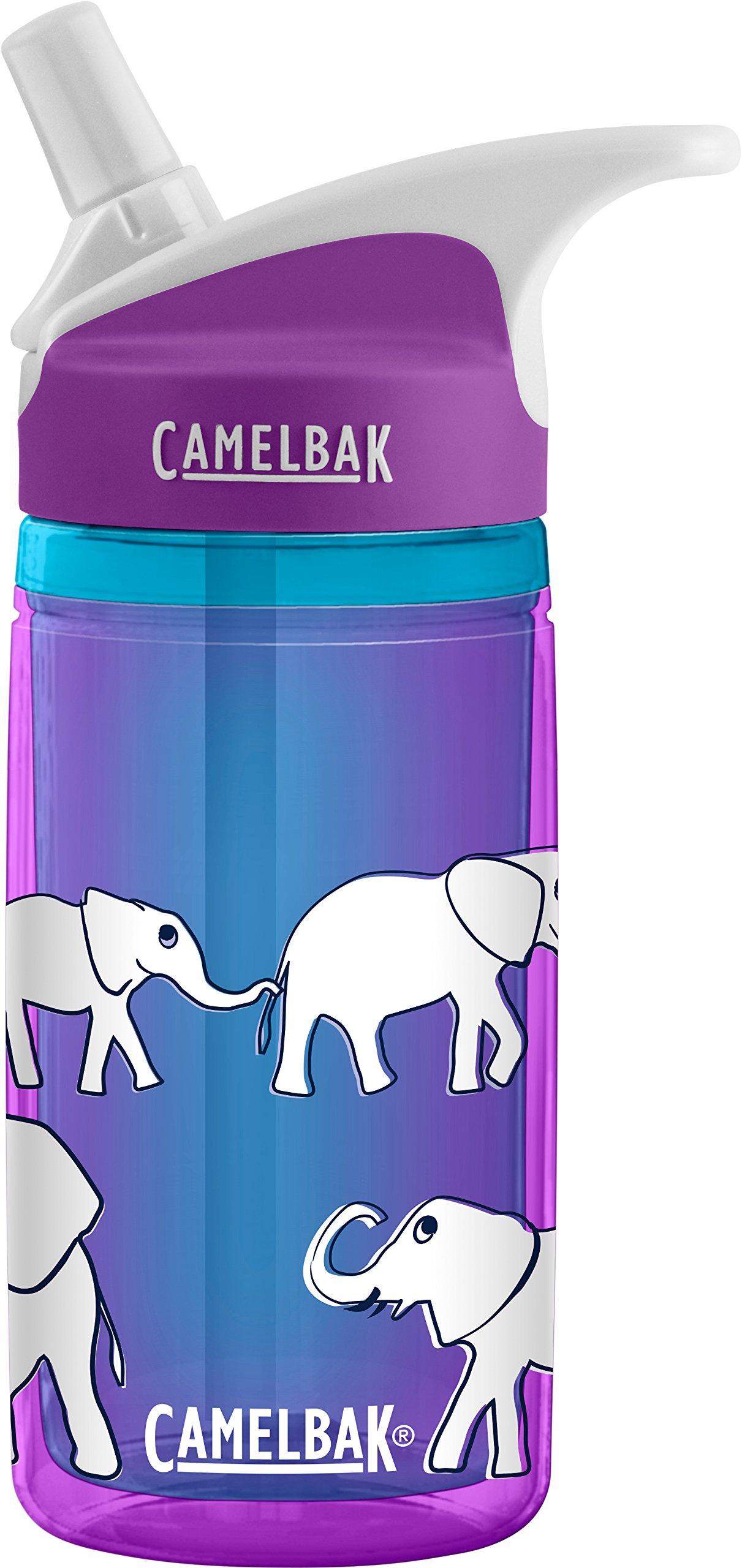 CamelBak Eddy Kids Insulated Water Bottle, Elephant Parade, .4 L