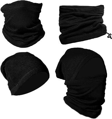 Soft Fleece Neck Gaiter Warmer Scarf Face Mask Ski Snowboard Winter Headband Cap