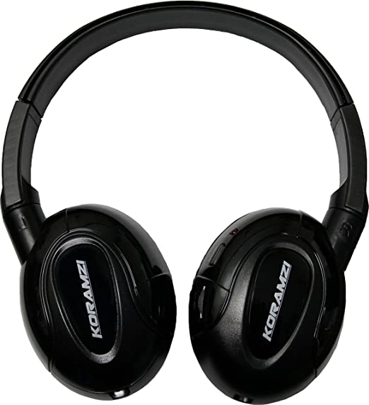 Koramzi IR900 IR Infrared Wireless foldable Headphones With AUX input designed for In-Car TV