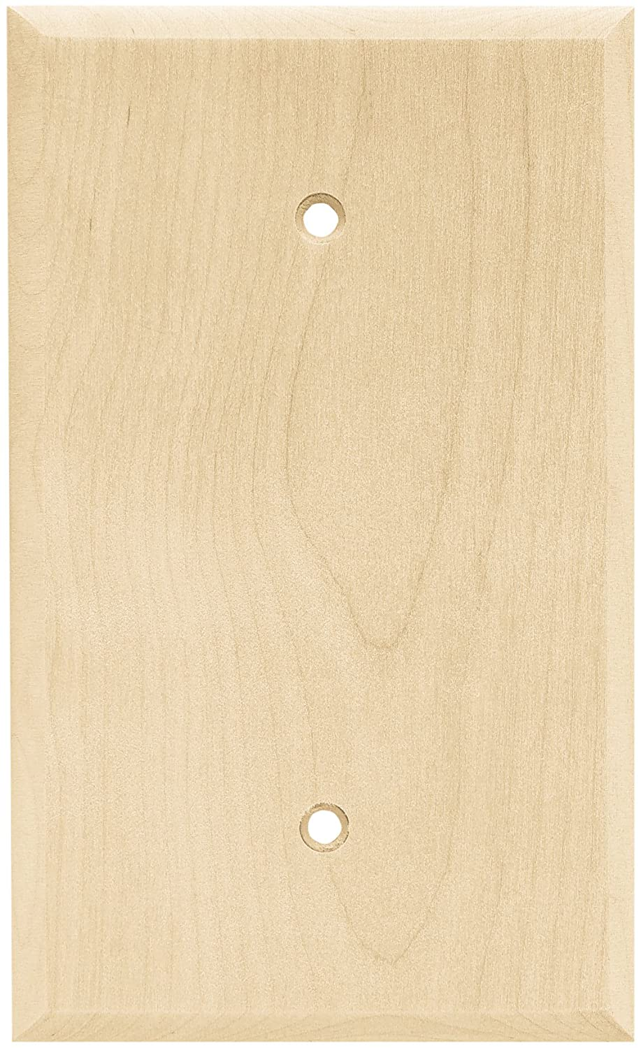 Brainerd 64662 wood square single blank wall plate switch for Four blank walls