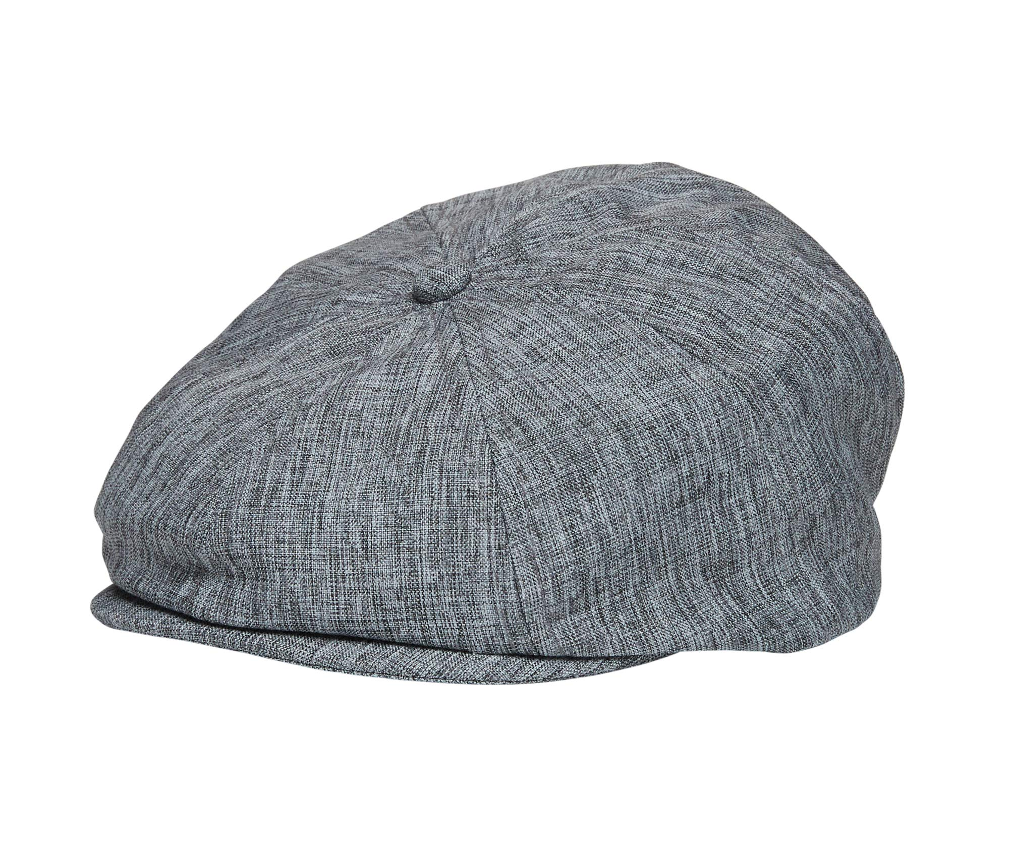 Baby Boy Ring Bearer Pageboy Scally Cap - Flat Ivy Newsboy Tweed Golf Cap Hat (Light Gray Set, XL 56cm)