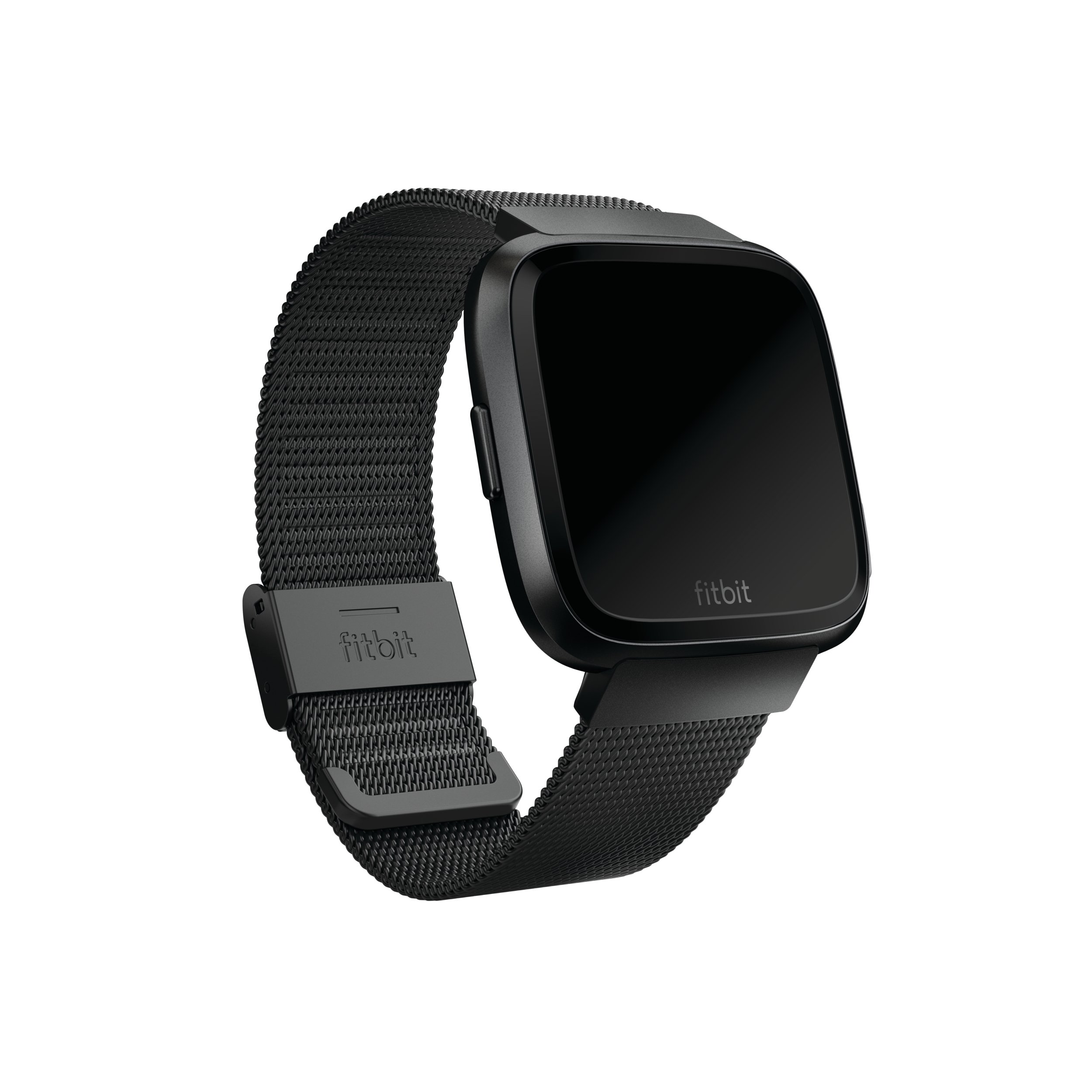 Fitbit Versa Family Accessory Band, Official Fitbit Product, Stainless Steel Mesh, Black, One Size by Fitbit (Image #4)