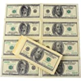 Forum Novelties 67311 Amazlab Print Gag Prank Joke Copy Retro $100 American Dollars Napkin Funny Dinning Banter Money 1 Pack (10