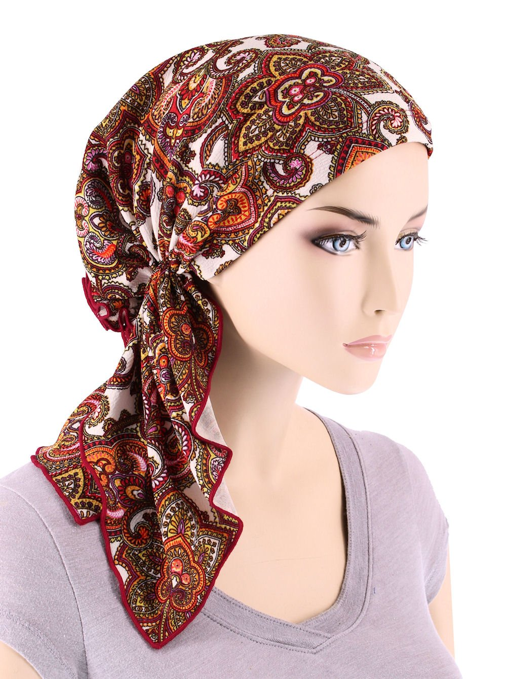 acd8d1bf76aa73 Bella Scarf Chemo Hat Turban Head Scarves Pre-Tied Headwear Bandana Tichel  for Cancer