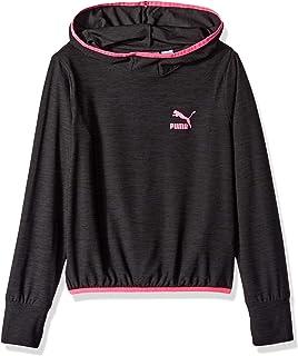 : PUMA Big Girls' Fleece Pullover: Clothing