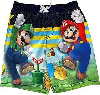 Mario Super Brothers Little Boys Swim Trunks