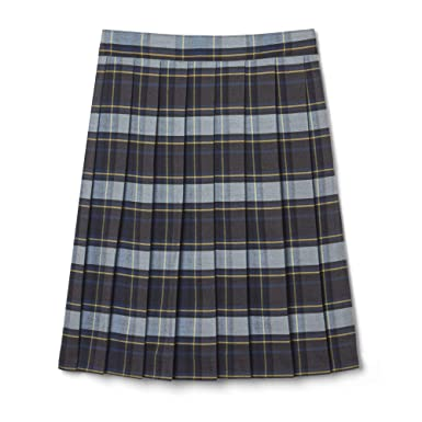 8a88a0415c French Toast Little Girls' Pleated Skirt, Blue/Gold Plaid, ...