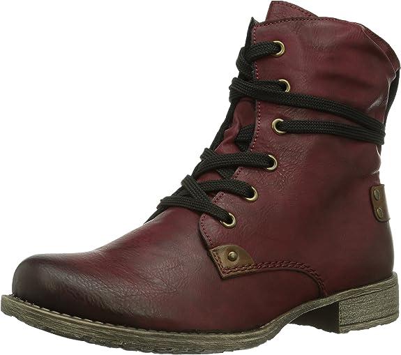 Rieker 70820 Damen Halbschaft Stiefel: : Schuhe
