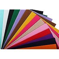 YYCRAFT Craft Soft Felt Sheets 9 Inch X 12 Inch - 15 Pcs Pack, 15 Colors