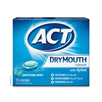 ACT Dry Mouth Lozenges Soothing Mint 36 Count Soothing Mint Flavored Lozenges with...