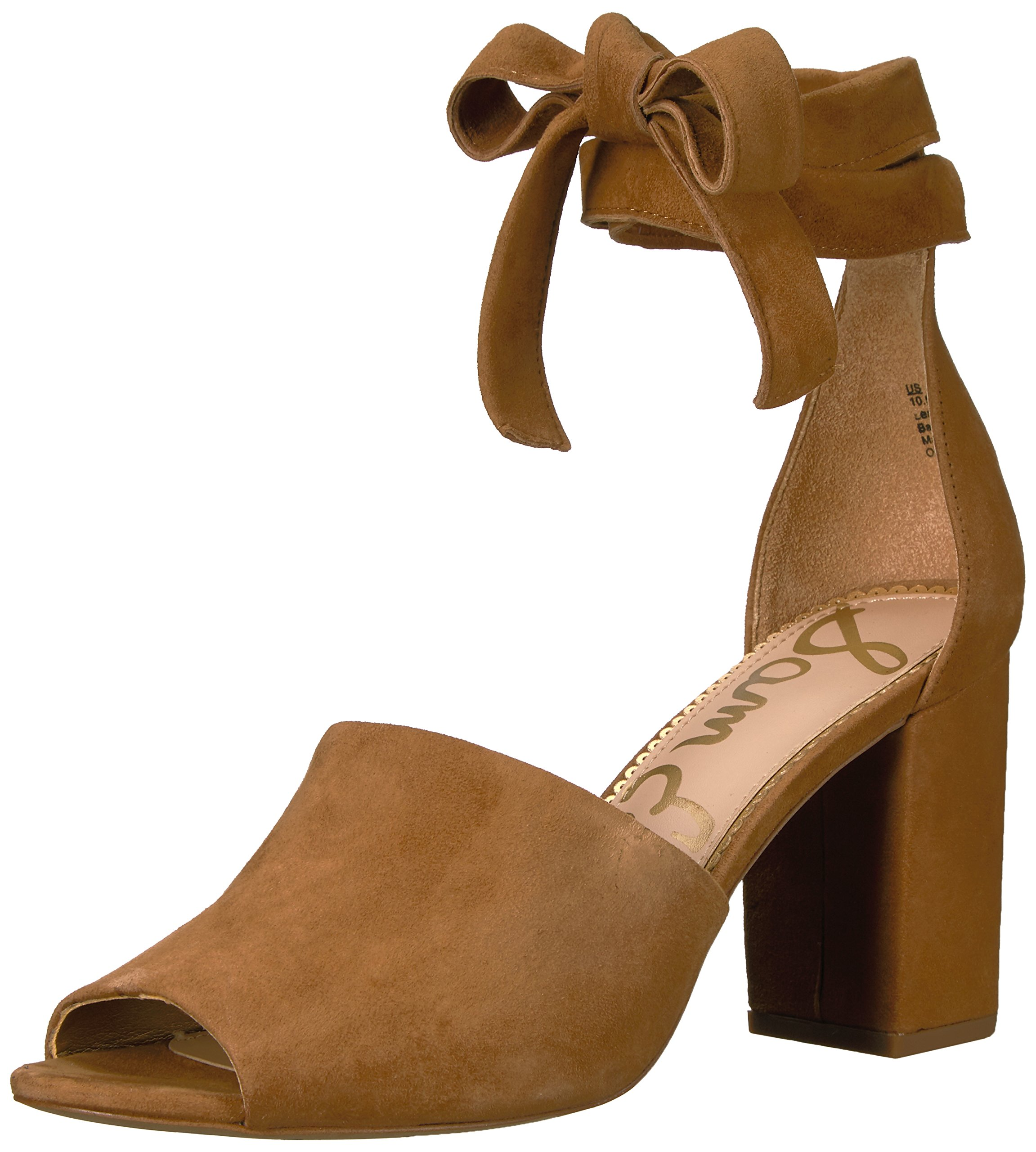 Sam Edelman Women's Odele Heeled Sandal, Golden Caramel Suede, 6.5 Medium US