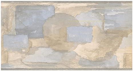 Norwall Prepasted Wallpaper Border Abstract Rectangular Painted
