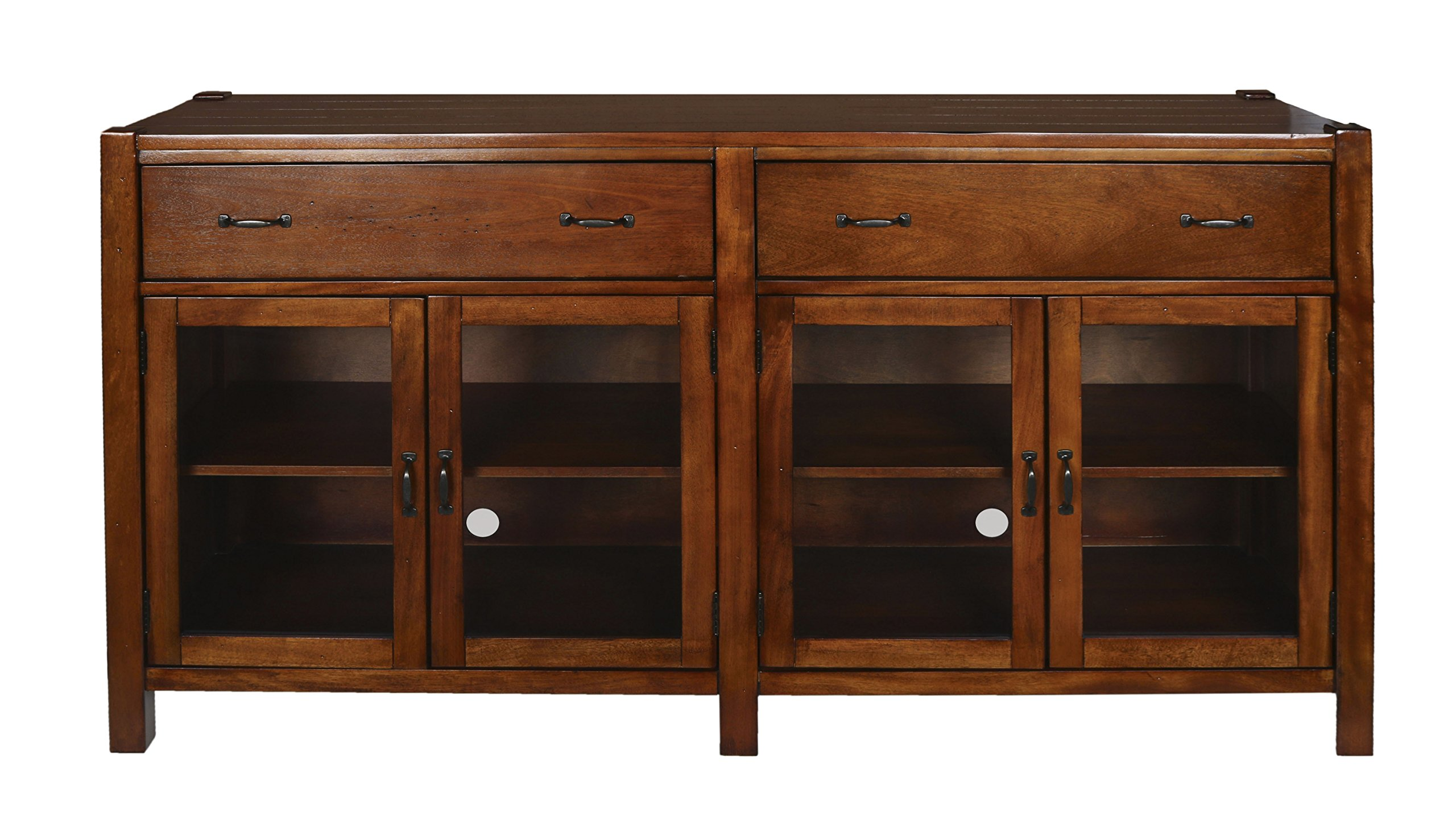 New Classic Furniture Giverny Entertainment Console, 65-Inch, African Honey by New Classic FURNITURE