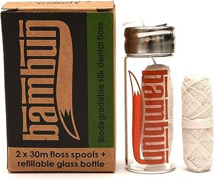 Hilo dental ecológico biodegradable de seda natural: botella de ...