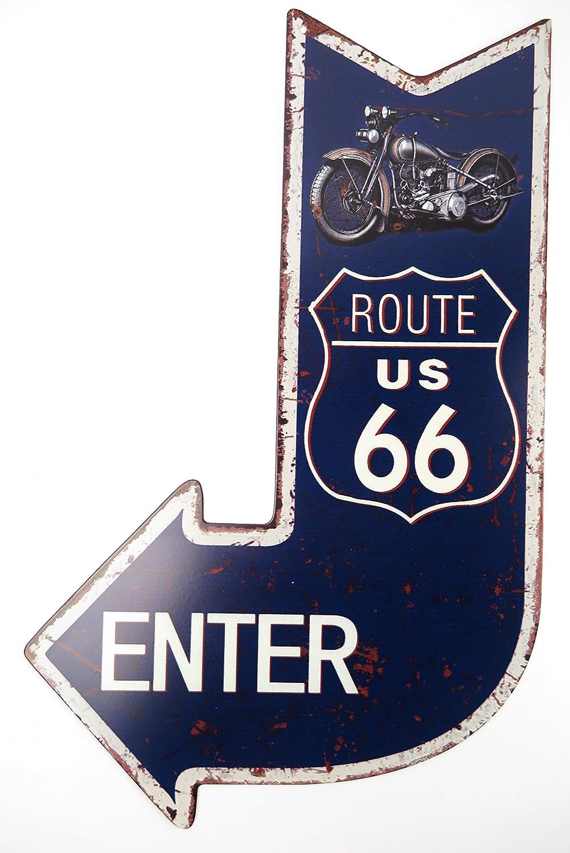 Clever-Deko Cartel de Chapa Route 66 Cartel Garage Hobby ...
