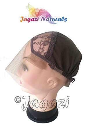 Lace Front Wig Base. Glueless Wig Cap with strap and comb, bonnet