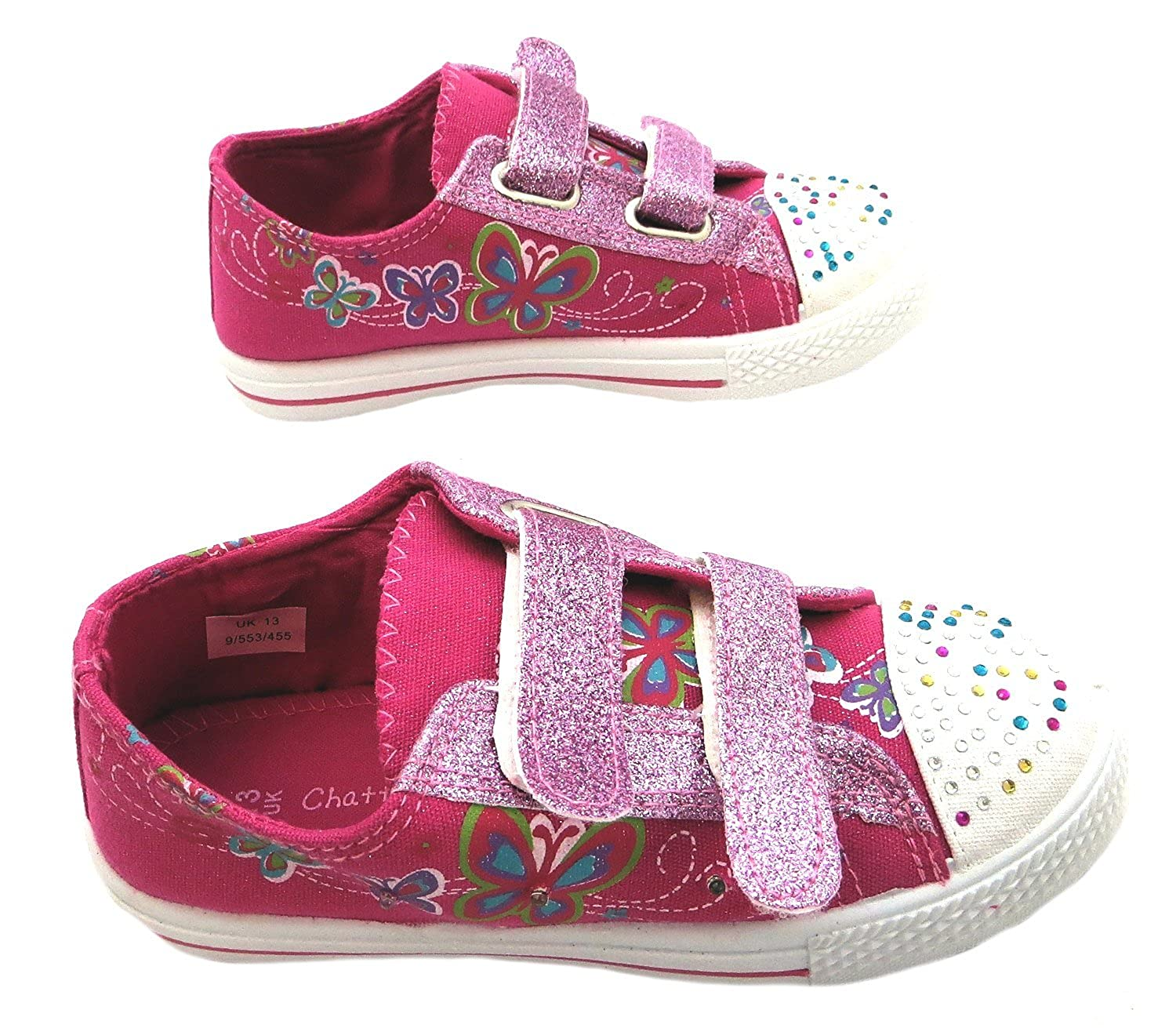Size 1 Chatterbox Girl's Zelda Canvas Casual Shoes: Amazon.co.uk: Shoes &  Bags