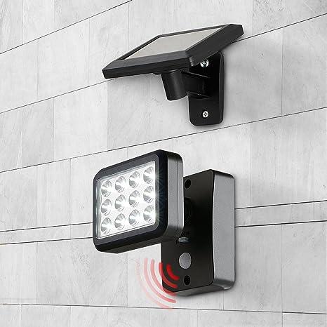 Oubo lámpara LED Solar Lámpara de exterior con detector de movimiento, lámpara solar 8 LED