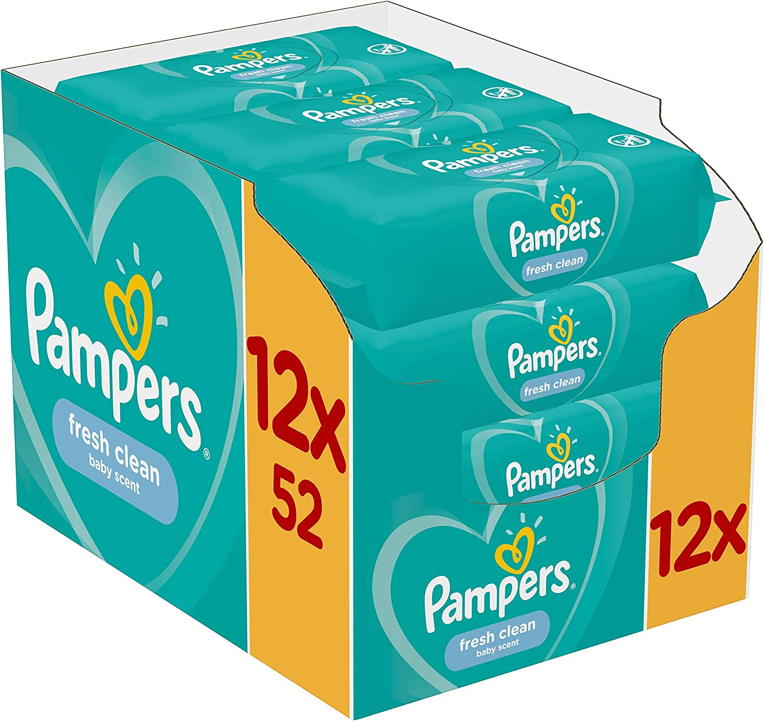 Pampers Fresh Clean Baby Wipes 12 Packs 47% OFF £7.67 PRE-ORDER @ Amazon