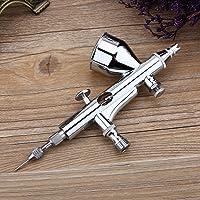 Pistolet de pulvérisation d'art d'aiguille de kit d'aérographe de double action 0.2mm / 0.3mm / 0.5mm pour le gâteau/clou / modèle