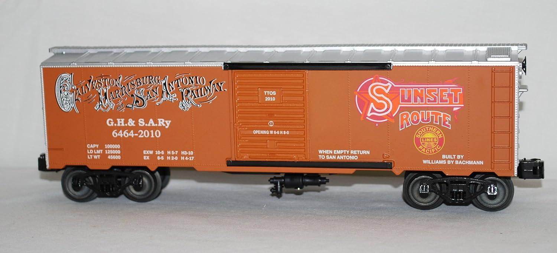 Williams GH&SA Galveston Harrisburg & San Antonio Railroad Boxcar Sunset Route O