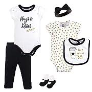 Hudson Baby Unisex Baby Layette, Latte, 6-Piece Set, 6-9 Months (9M)