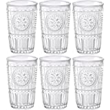 Bormioli Rocco Romantic - Set of 6 Glasses - 32.5cl/11fl.oz. - Clear Glass - 8 x 8 x 12.5cm/3 x 3 x 5 inches