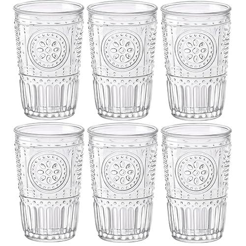 Bormioli Rocco - Romantic - Set of 6 Glasses - 32.5cl/11fl.oz. - Clear Glass - 8 x 8 x 12.5cm/3 x 3 x 5 inches