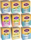 Yogi Tea Herbal Wellness 9 Flavor Variety Pack (Pack of 9, 144 Tea Bags Total)