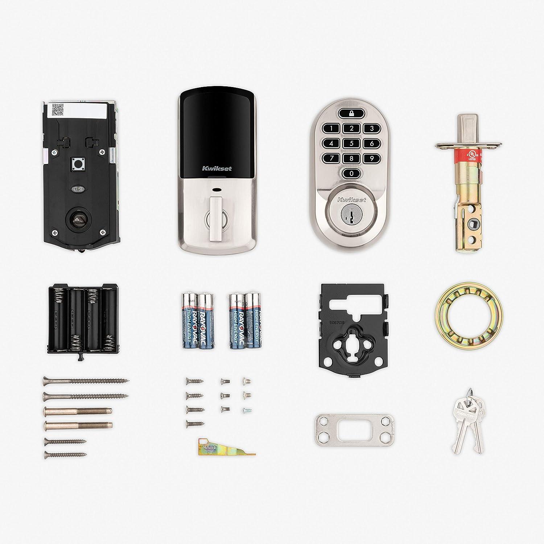 Kwikset 99380-002 Halo Wi-Fi Smart Lock Keyless Entry Electronic Keypad Deadbolt Featuring SmartKey Security Venetian Bronze
